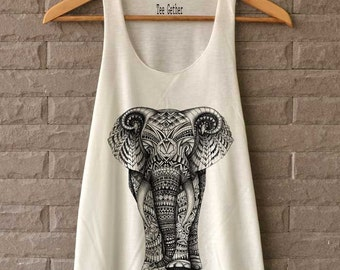 Elephant Aztec Shirts Tank Top  Women Size S M L