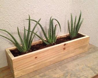 Rustic, Reclaimed Wood, Rectangular Planter Box