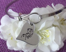 Expecting Mommy Bracelet - Mom to Be jewelry - Pregnancy gift - Baby Shower Gift - Pregnant blessing - oval clasp bracelet - Heart