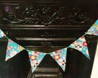 Skull and floral bunting