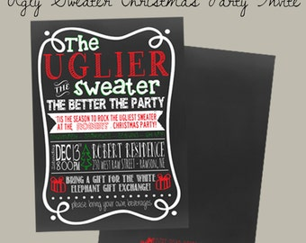Ugly Sweater Christmas Party Invite - Christmas Party Invitation
