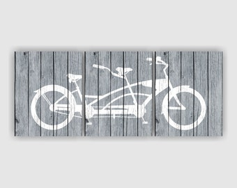 Bicycle Art Print Set of 3, 8х10, Gray and White, Rustic A bike silhouette Digital Art Print, Printable wall art, Bicycle INSTANT DOWNLOAD