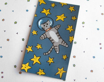 Cute Cat Magnet Space Magnet Cute Magnet Cat Magnet Fridge Magnet Cubicle Decor Kawaii Magnet Cute Cat Kitty in Space