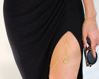 Reena Thigh Chain - Gold Plated