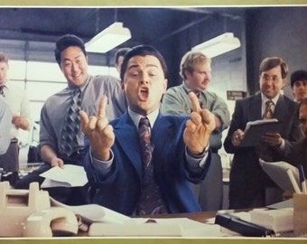 """The Wolf Of Wall Street HUGE 52"""" x 24"""" Movie Poster Leo Man cave Bar Office Work"""