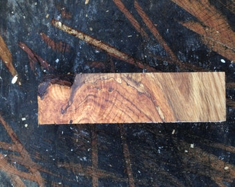 Endgrain chestnut oak crotch spindle blank- for woodturning or knife scales