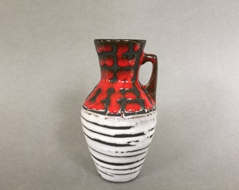 Scheurich  405  / 13.5 Mid Century Modern   handled vase  made in the 1960s . West Germany Pottery. WGP.