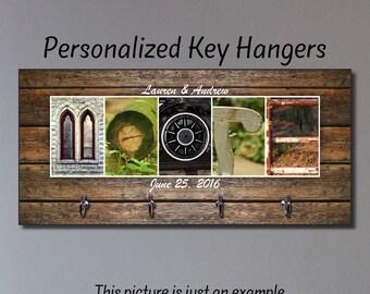 Key Hanger, Wedding Gift, Anniversary Gift, Key Holder, Key Rack, Key Wall Organizer, Personalized Housewarming Gift, New Home Gift