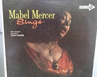 Mabel Mercer, Mabel Mercer Sings, Vintage Record Album, Vinyl LP, Torch Singer, Cabaret Singer, Jazz, Blues, Soul Music