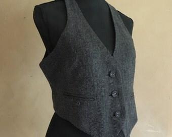Vintage 90's Wool Tweed Vest