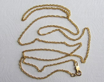 "New Never Used Old Stock 14k Yellow Gold Chain Necklace by Speidel - 24""x 1.3mm - 2.13g"
