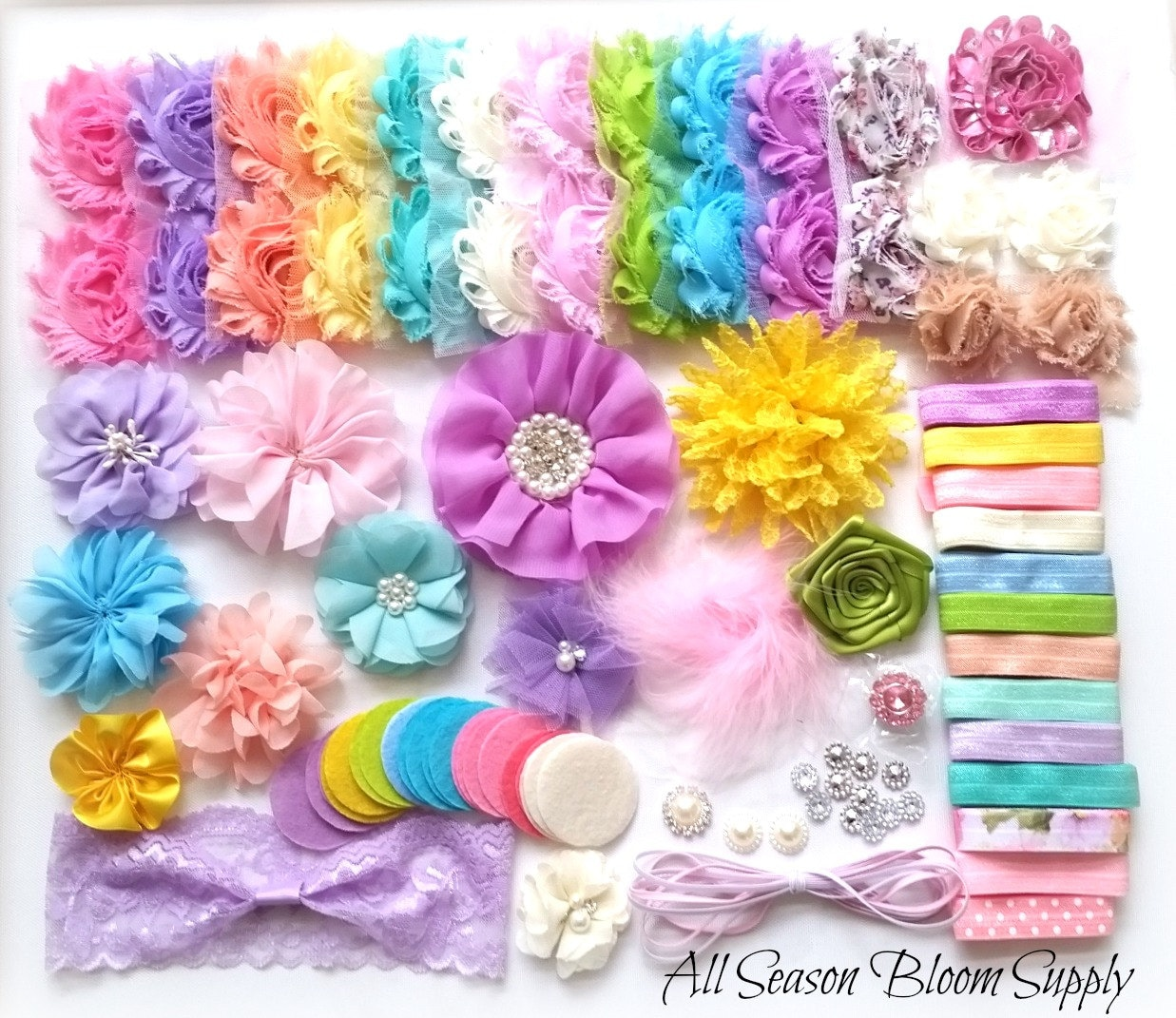 baby shower headband kit pastel colors theme baby