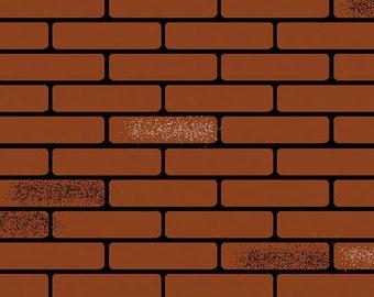 "DOLLHOUSE MINIATURE 12 X 16"" Brick Sheet #FF60665-FF60670-FF60675"