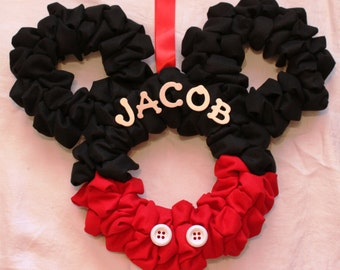 Mickey Mouse Wreath (can be personalized!)