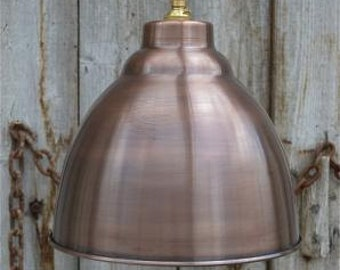 Industrial aged copper ceiling light shade DCG3