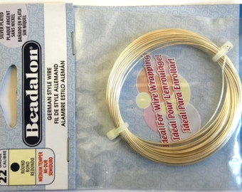 20m Beadalon silver-plated wire 0.4mm/ 26Ga