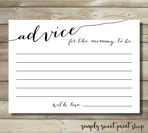 Sly image regarding mommy advice cards printable