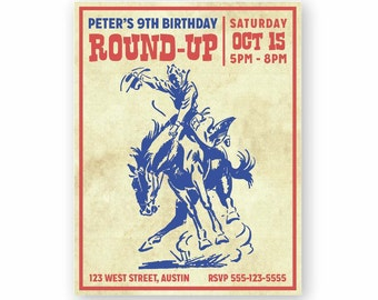 Western Cowboy Party Theme Invitations
