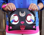 The Purrrfect Clutch Bag With Wristlet   Sailor Moon Inspired Luna Cat   Purse   Geek Chic