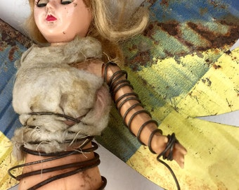 Assemblage Art Primitive Angel_2