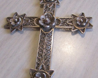 Filigree Sterling Silver Cross Pendant