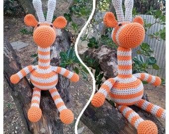 PDF, Giraffe Pattern by Addicted 2 The Hook 35cm Crochet Giraffe Pattern