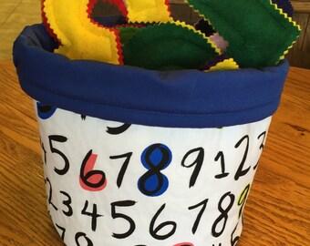 Basket Full of Numbers for Preschoolers