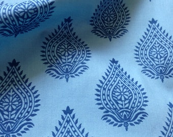 Organic Cotton, Indian Fabric, Indigo, Block Print, Herbal Dyed , Natural Plant Dye, Cambric Cotton, Safe Cloth, Sewing