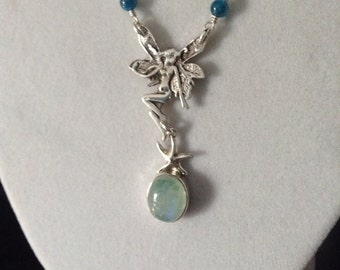 Fairy and Moonstone Necklace