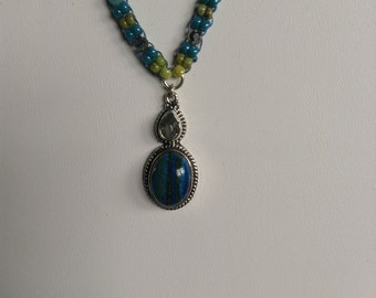 Blue Calcite Gemstone Necklace