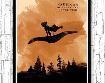Nausicaa of the Valley of the Wind Hayao Miyazaki Minimalist Movie Poster