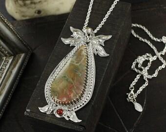 Coprolite necklace - Skull necklace - Dia de la muerte necklace - Victorian necklace - Handmade