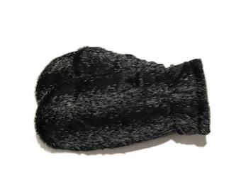 Mittens-Seal, mittens faux fur, Faux Fur Mittens, Warm Mittens, Black Mittens, Fur Mittens