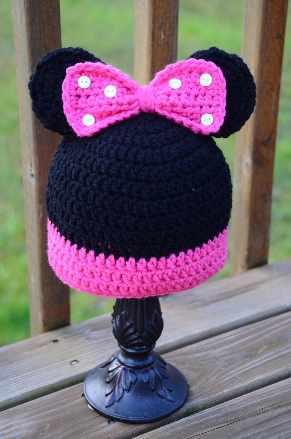 Minnie Mouse Crochet Hat Pattern With Ear Flaps ~ Dancox for .