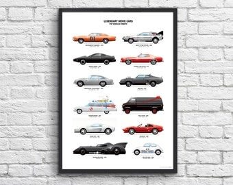 Poster Legandary movie cars