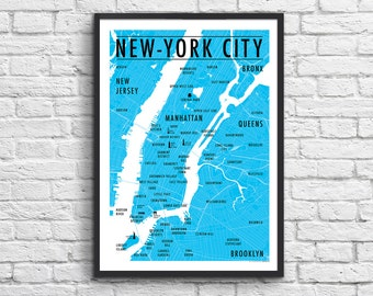 Poster New-York City Map