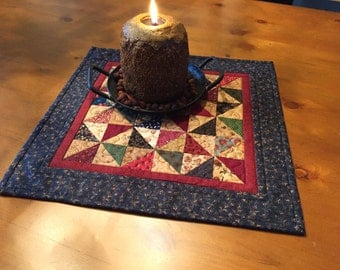Quilted Table Topper / Primitive / Country Table Topper  Item #1277