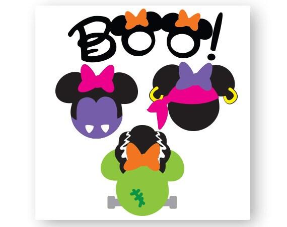 Disney Icon Minnie Mouse Head Icon Mickey Head Halloween