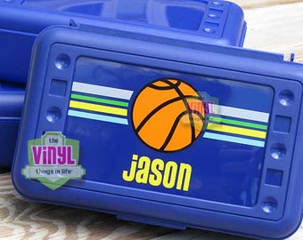 Basketball pencil box, Boys pencil box, Back to school, Personalized school supplies, Pencil box for boys, Sports pencil case, Basketball