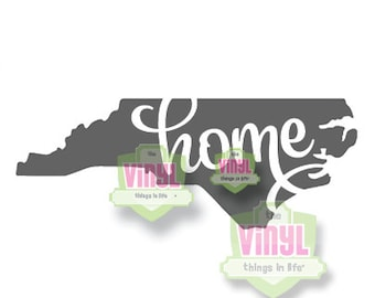 North Carolina home decal, North Carolina home sticker, Home state decal, NC home sticker, NC car decal, NC home, Any state can be made