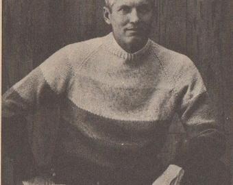 Men's hand knit sweater pattern vintage download