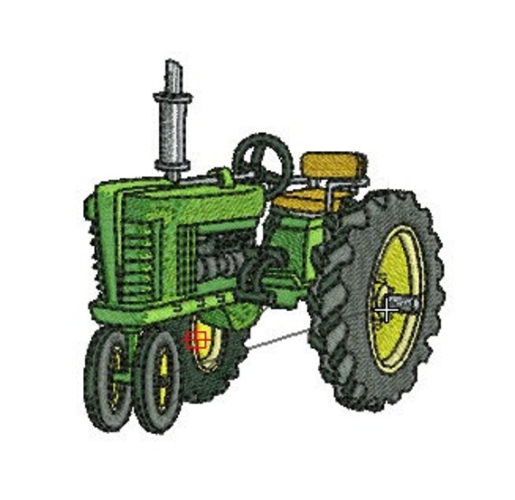Embroidery Of Tractors : Tractor machine embroidery design size and instant