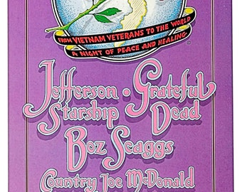 Grateful Dead Concert Poster 1982 San Francisco - FREE Shipping