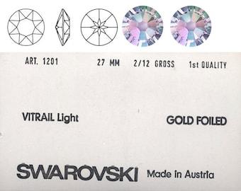 Swarovski large round vingage stone.  Vitreal Light colour.  Price is for one stone