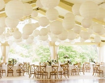 """40 Round Chinese Paper Lantern Set 5x18"""" 5x16"""" 6x14"""" 8x12"""" 8x10"""" 8x8"""" DIY KITS for Wedding Party Floral Event Sky Decoration Light Kit"""