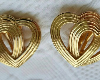 Vintage double heart CHRISTIAN DIOR earrings