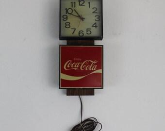 Square Coca Cola Clock/Sign Wall decor