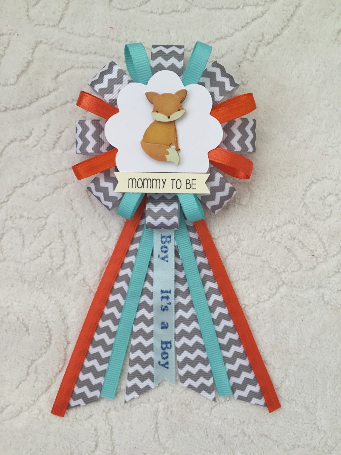 mommy to be ribbon corsage for baby shower it 39 s a boy
