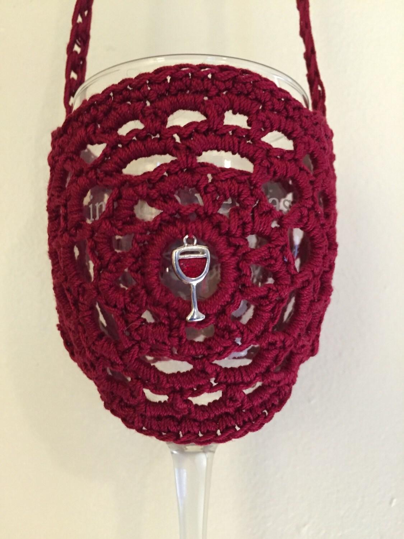 wine charm glass holder necklace wine tasting wine