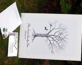 Family Fingerprint Tree- Ideal Christmas Gift!